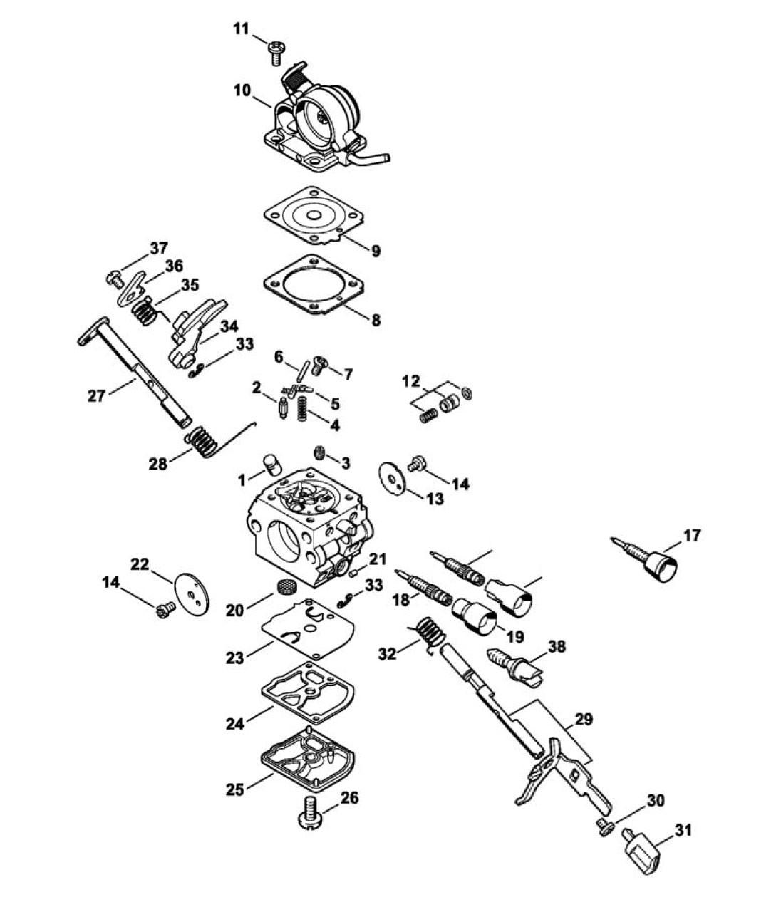 carburateur c1q-s120 - pièce détachée stihl / vicking